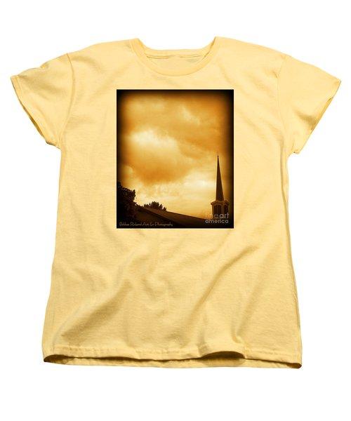 Church Steeple Women's T-Shirt (Standard Cut) by Bobbee Rickard