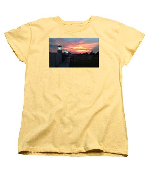 Closed Flood Gates Sunset Women's T-Shirt (Standard Cut)