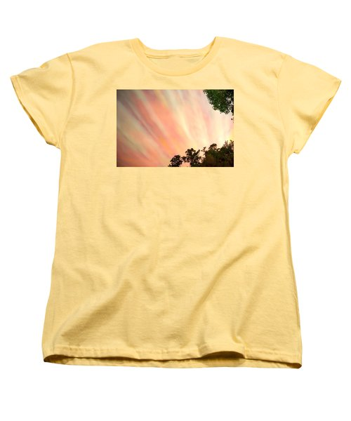 Women's T-Shirt (Standard Cut) featuring the photograph Cloud Streams by Charlotte Schafer