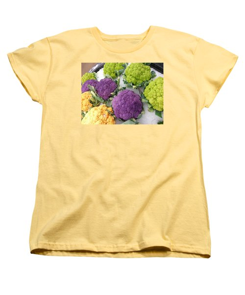 Women's T-Shirt (Standard Cut) featuring the photograph Colorful Cauliflower by Caryl J Bohn