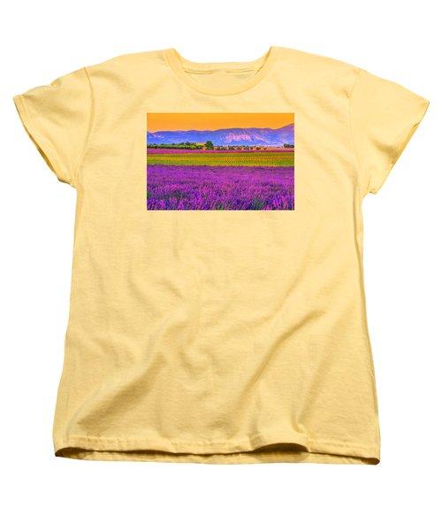 Colors Of Provence Women's T-Shirt (Standard Cut) by Midori Chan