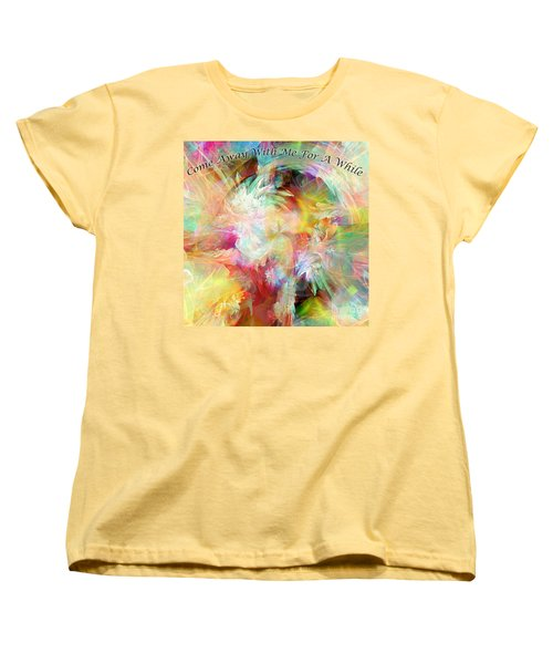 Come Away Women's T-Shirt (Standard Cut) by Margie Chapman