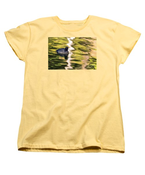Coot Reflected Women's T-Shirt (Standard Cut) by Kate Brown