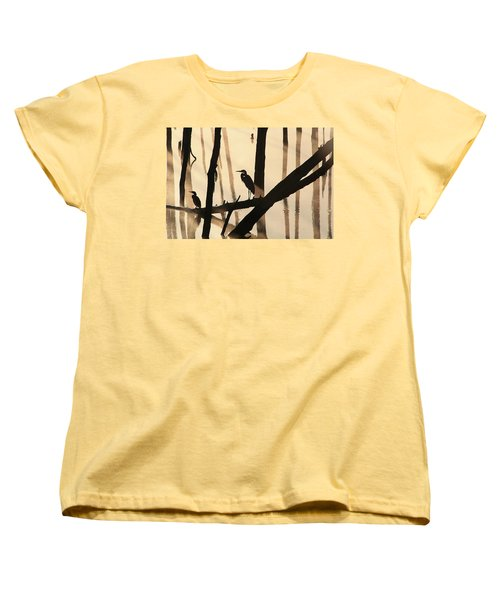 Cormorant And The Heron Women's T-Shirt (Standard Cut) by Roger Becker