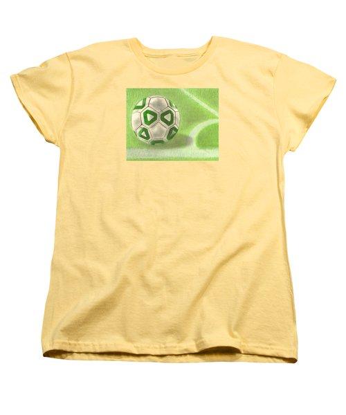 Corner Kick Women's T-Shirt (Standard Cut) by Troy Levesque