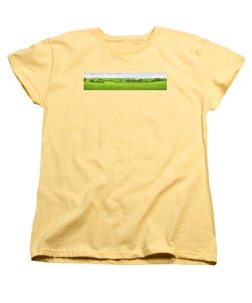 Cornwall Panorama Color Women's T-Shirt (Standard Cut)
