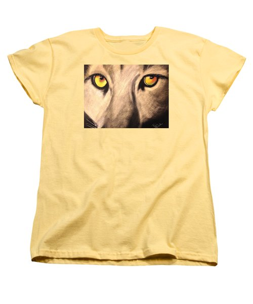 Cougar Eyes Women's T-Shirt (Standard Cut) by Renee Michelle Wenker