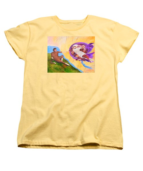 Creation Of A Sock Monkey Women's T-Shirt (Standard Cut) by Randy Burns