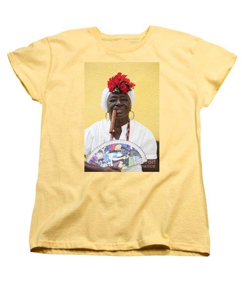 Cuban Lady Two Women's T-Shirt (Standard Cut) by Chris Dutton