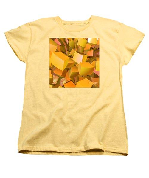 Cubist Melon Burst By Jammer Women's T-Shirt (Standard Cut) by First Star Art