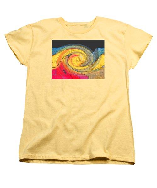 Women's T-Shirt (Standard Cut) featuring the photograph Curb Swirl by Brooks Garten Hauschild