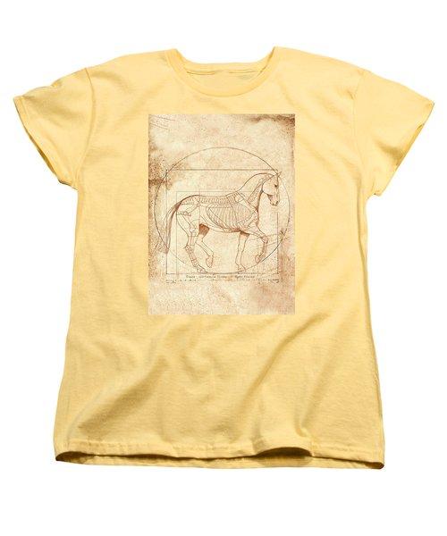 da Vinci Horse in Piaffe Women's T-Shirt (Standard Cut) by Catherine Twomey