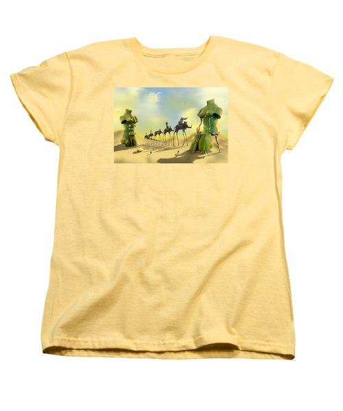 Dali On The Move  Women's T-Shirt (Standard Cut) by Mike McGlothlen
