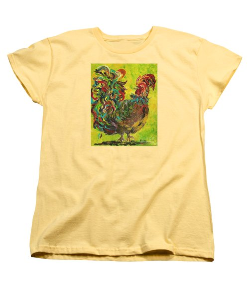 Women's T-Shirt (Standard Cut) featuring the painting De Colores Rooster #2 by Eloise Schneider