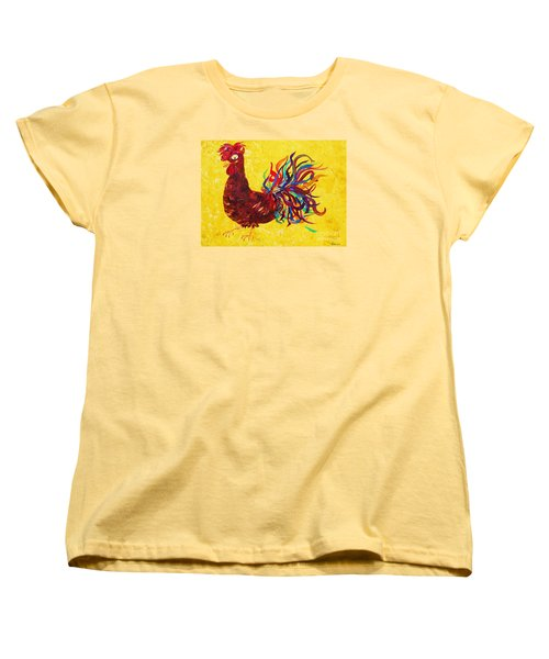 Women's T-Shirt (Standard Cut) featuring the painting De Colores Rooster by Eloise Schneider