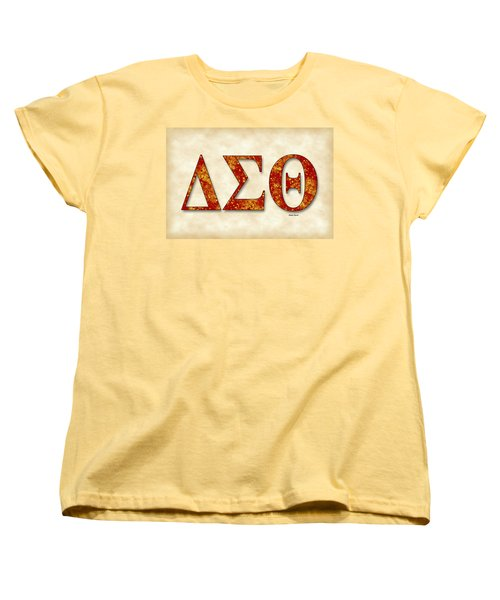 Delta Sigma Theta - Parchment Women's T-Shirt (Standard Cut) by Stephen Younts