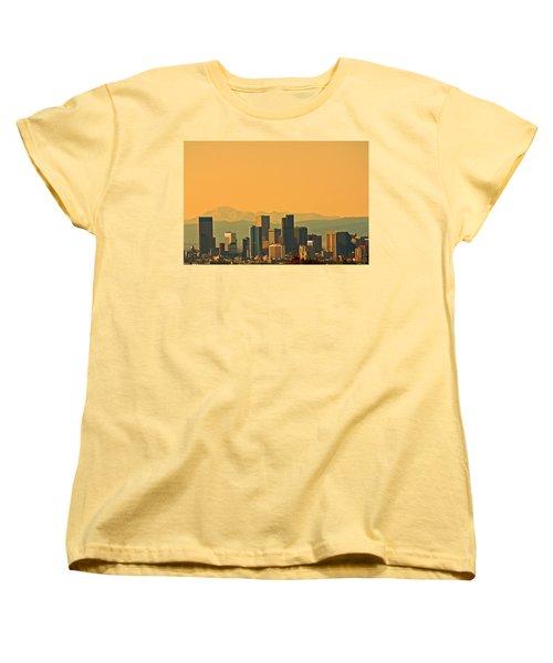 Denver Skyline Women's T-Shirt (Standard Cut) by Colleen Coccia