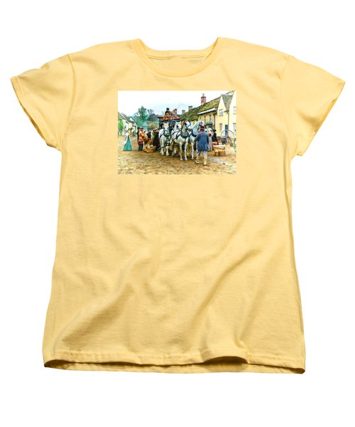 Departing Cranford Women's T-Shirt (Standard Cut) by Paul Gulliver