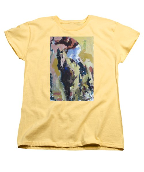 Women's T-Shirt (Standard Cut) featuring the painting Derby Dwellers by Robert Joyner