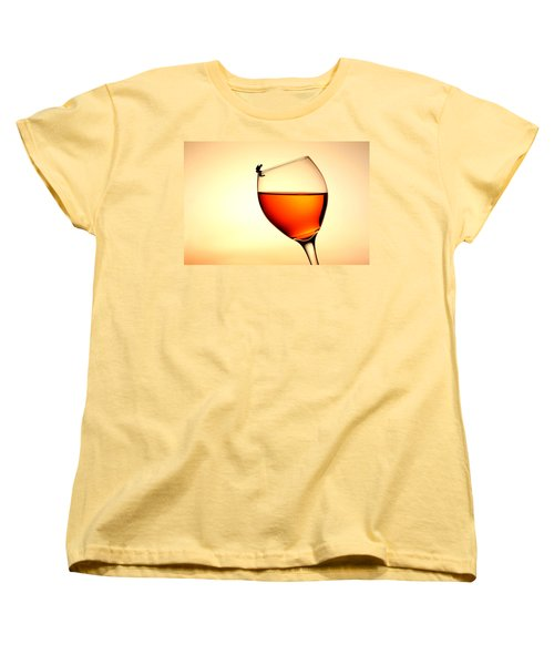 Diving In Red Wine Little People On Food Women's T-Shirt (Standard Cut) by Paul Ge