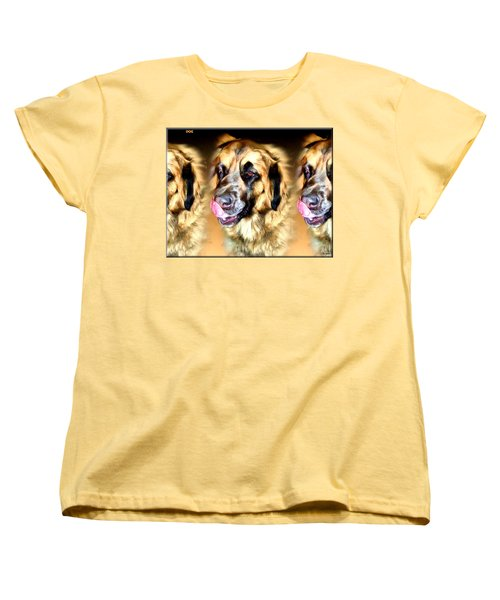 Women's T-Shirt (Standard Cut) featuring the digital art Dog by Daniel Janda
