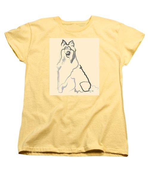 Dog - Lassie Women's T-Shirt (Standard Cut) by Go Van Kampen