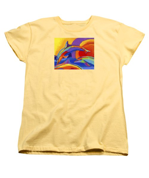 Dolphin Dance Women's T-Shirt (Standard Cut) by Stephen Anderson