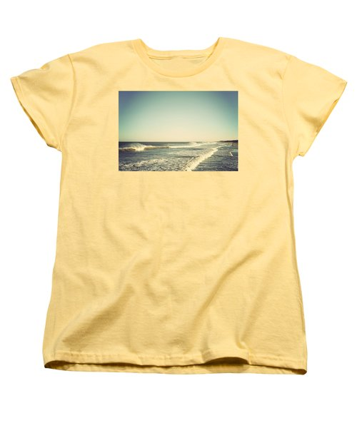 Down The Shore - Seaside Heights Jersey Shore Vintage Women's T-Shirt (Standard Cut) by Terry DeLuco