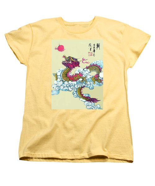 Dragon Women's T-Shirt (Standard Cut) by Yufeng Wang