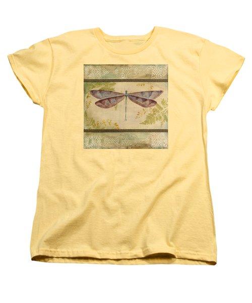 Dragonfly Among The Ferns-3 Women's T-Shirt (Standard Cut)