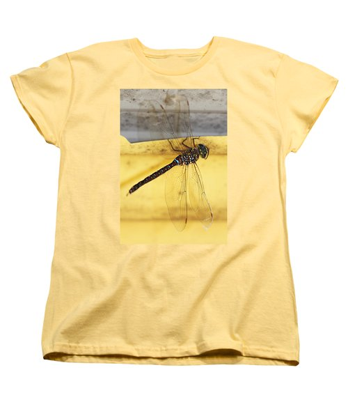 Women's T-Shirt (Standard Cut) featuring the photograph Dragonfly Web by Melanie Lankford Photography