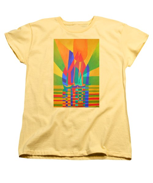 Women's T-Shirt (Standard Cut) featuring the painting Dreamboat by Tracey Harrington-Simpson
