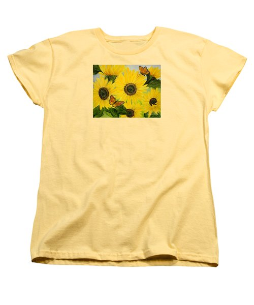 Women's T-Shirt (Standard Cut) featuring the painting Dreaming Of Summer by Carol Sweetwood