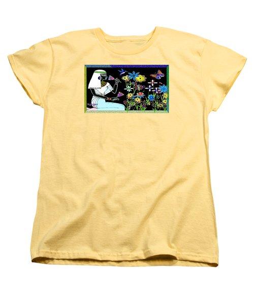 Women's T-Shirt (Standard Cut) featuring the digital art Egyptian Flower  Garden by Hartmut Jager