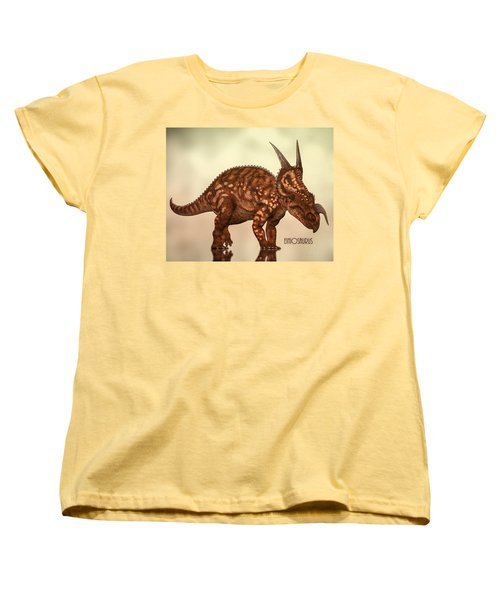 Einiosaurus Women's T-Shirt (Standard Cut) by Bob Orsillo