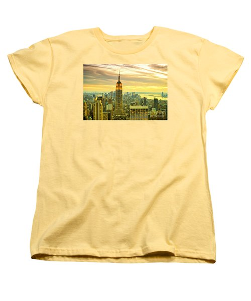 Empire State Building In The Evening Women's T-Shirt (Standard Cut) by Sabine Jacobs