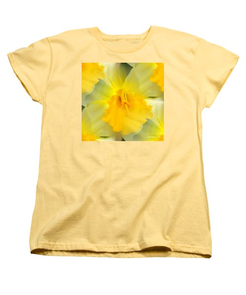 Women's T-Shirt (Standard Cut) featuring the photograph Endless Yellow Daffodil by Judy Palkimas