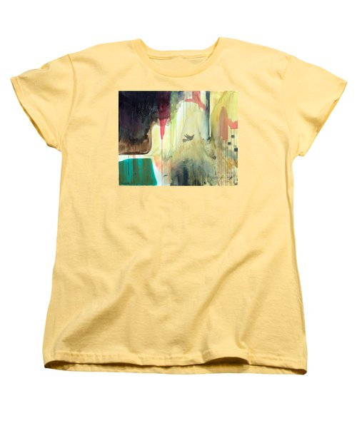 Women's T-Shirt (Standard Cut) featuring the painting Envisage by Robin Maria Pedrero
