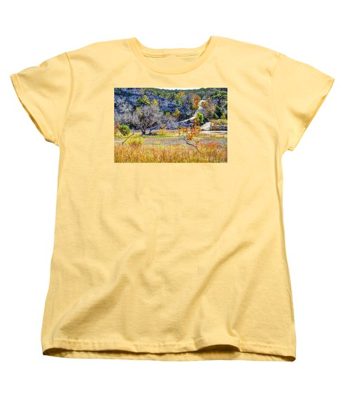 Fall In The Texas Hill Country Women's T-Shirt (Standard Cut) by Savannah Gibbs