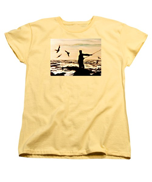 Father Fisherman Women's T-Shirt (Standard Cut) by Desline Vitto