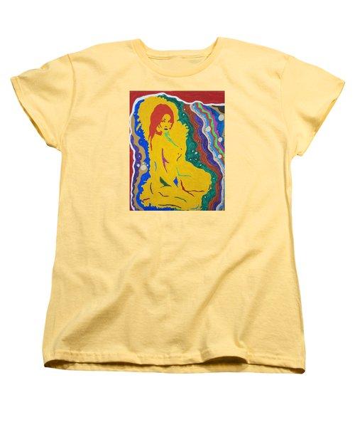 Nude Goddess Women's T-Shirt (Standard Cut) by Stormm Bradshaw