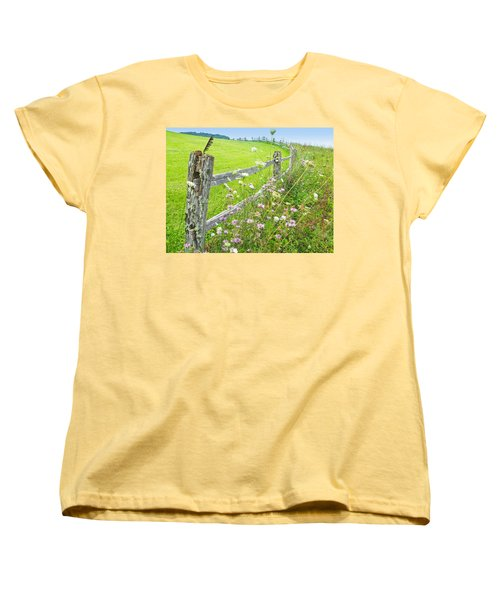 Fence Post Women's T-Shirt (Standard Cut) by Melinda Fawver