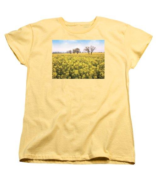 Fields Of Yellow Women's T-Shirt (Standard Cut) by Ron Harpham
