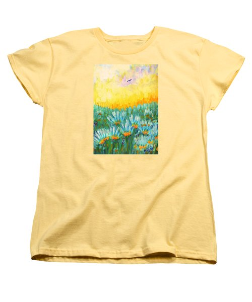 Women's T-Shirt (Standard Cut) featuring the painting Firelight by Holly Carmichael