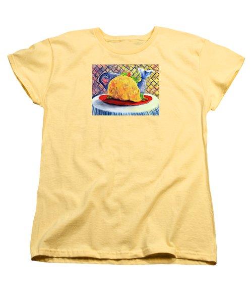 Fish Taco Women's T-Shirt (Standard Cut) by Randy Burns