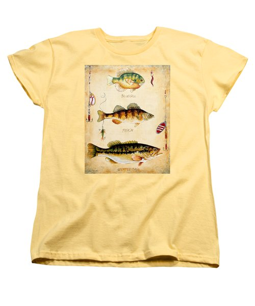 Fish Trio-c Women's T-Shirt (Standard Cut) by Jean Plout