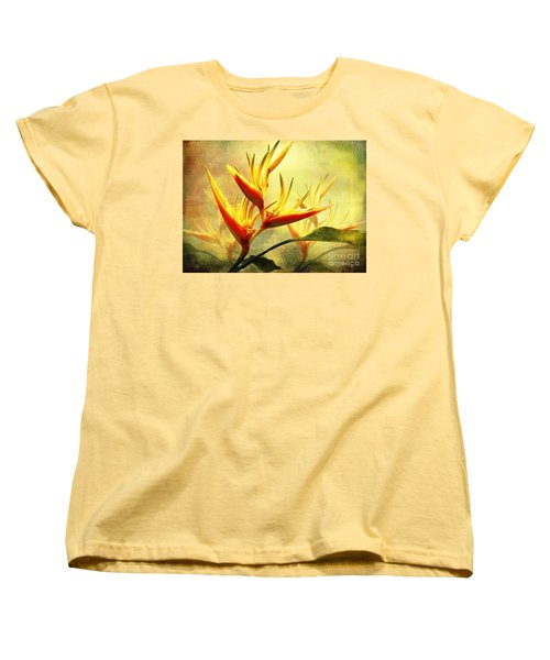 Flames Of Paradise Women's T-Shirt (Standard Cut) by Ellen Cotton