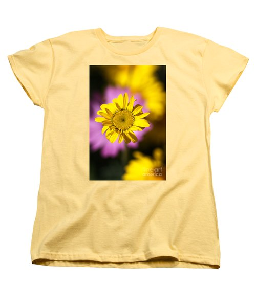 Women's T-Shirt (Standard Cut) featuring the photograph Floating Daisy by Joy Watson