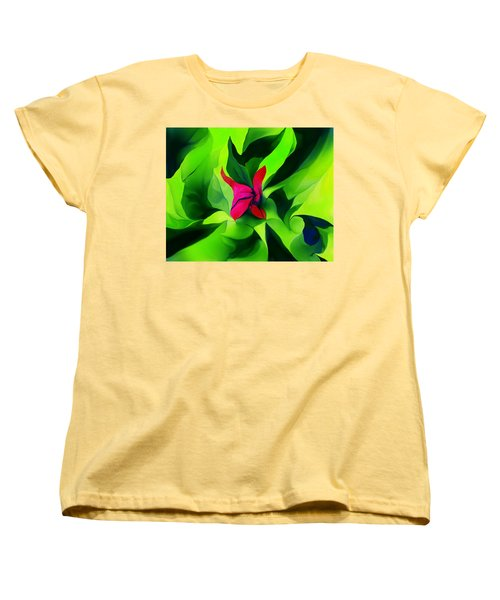 Women's T-Shirt (Standard Cut) featuring the digital art Floral Abstract Play by David Lane