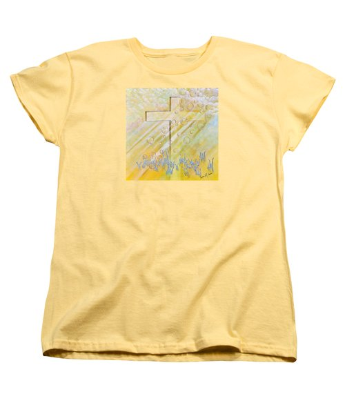 Women's T-Shirt (Standard Cut) featuring the painting For The Cross by Cassie Sears